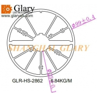 Buy cheap GLR-HS-2862 99mm round aluminum extruded profile heatsink from wholesalers
