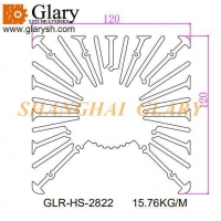 Buy cheap GLR-HS-2822 120mm aluminum extruded profile heatsink from wholesalers