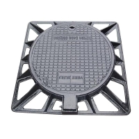 Quality Ductile iron outer square and inner round manhole cover for sale