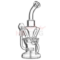 Quality k51 HBKING recycler glass water pipe for sale