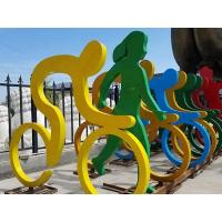 China Colorful Stainless Steel Abstract Sculpture Stainless Stell Sculpture on sale