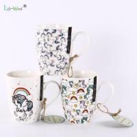Quality Wholesale 350ml fancy printing Ceramic cup Porcelain Stone ware Coffee Tea Mugs for sale