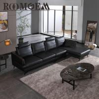 Quality Modern Black Leather Couch for sale