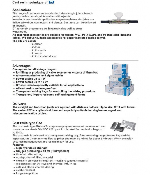 Buy Resin Cable Joints at wholesale prices