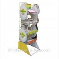 Quality KingKara KASR217 wood tray stand with folding poster stand for bakery showcase for sale
