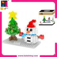 Quality eco-friendly material educational diamond building blocks 2015 christmas toy gift for sale