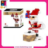 Quality New arrival Santa Claus kids educational ABS plastic DIY micro building block toy for sale