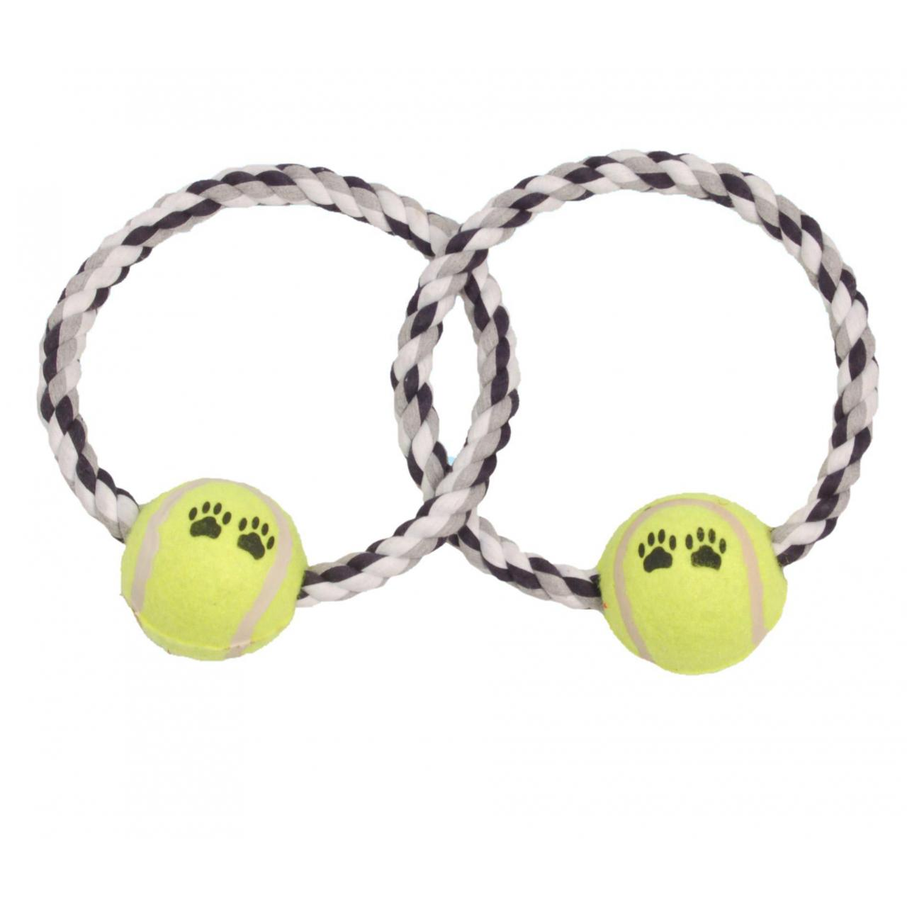 Quality Dog toy Crossed Round Dog Rope Toy Ball for sale