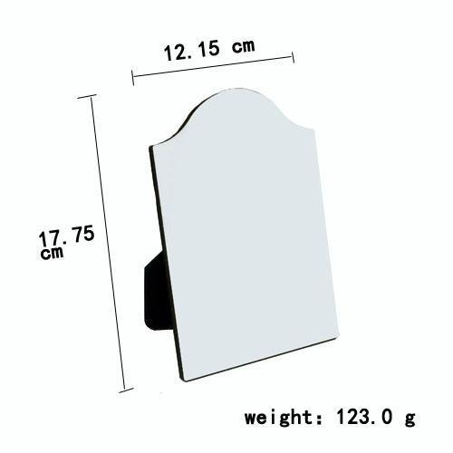 China MDF Photo Panel With Easel Arch Top 5'' 7''
