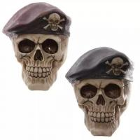 China Creative Festival Gifts Resin Skull Ornament Piggy Bank on sale