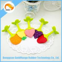 Quality Food grade fruit silicone baby teether chew beads for baby for sale