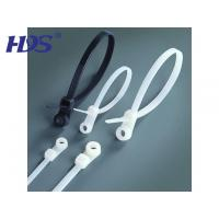 Quality Nylon cable tie Mountable head ties for sale