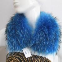 Buy cheap dyed blue collar garment use raccoon fur collar from wholesalers