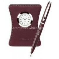 Quality Harvest Ballpoint Leather Clock Set for sale
