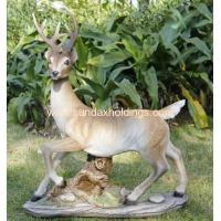 China Garden Series SF12172-1 realist animal poly deer statue garden ornament on sale