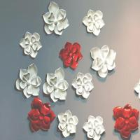 China craft and craft Custom Interior Wall Design Resin Flower Wall Decor on sale