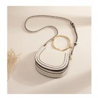 China Custom design PU leather big metal ring handle saddle bag on sale