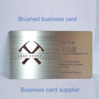 China Business Cards Brushed Metal Business Card on sale