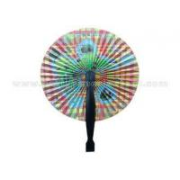 "Custom Pattern Printed Paper Folding Fans Accordion with PP Handle 3.5"" 5.5"" 6.5"" Length"