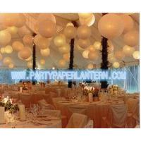 Different Shaped Decorating Wedding Paper Lanterns With Soft Colors , Size Customized