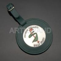 """Quality Bag Tag 3""""round golf member bag tag with custom medallion for sale"""