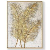 Buy cheap Artwork Golden Leaf Texture Framed Art Abstract Paintings CA-F 2224 from wholesalers