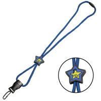 Quality Lanyards / Credentials Braided Lanyard w/ Star Slider for sale