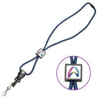 Quality Lanyards / Credentials Braided Lanyard w/ Square Slider for sale