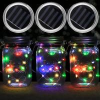 China Multicolor Battery Operated Mason Jar String Lights on sale